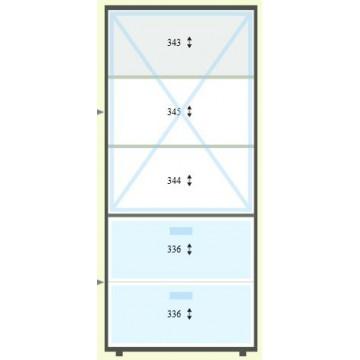 Szafa z dwiema szufladami + półki zamykane