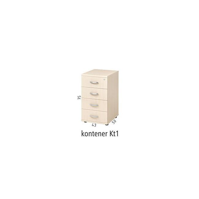 Kontener dostawny do biurka Kt1