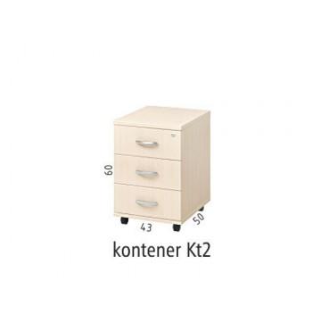 Kontener mobilny podbiurkowy Kt2