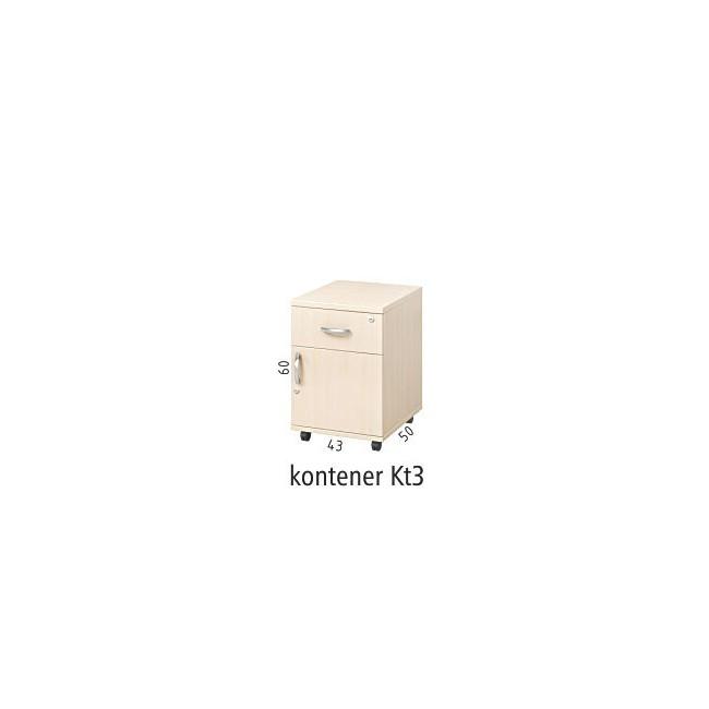 Kontener mobilny podbiurkowy Kt3