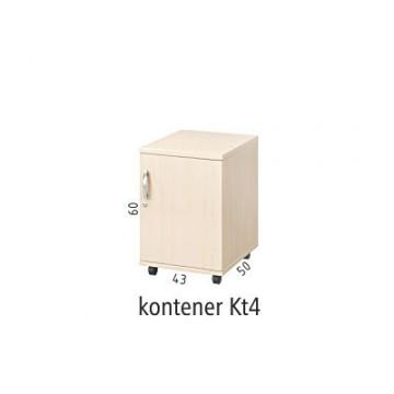 Kontener mobilny podbiurkowy Kt4