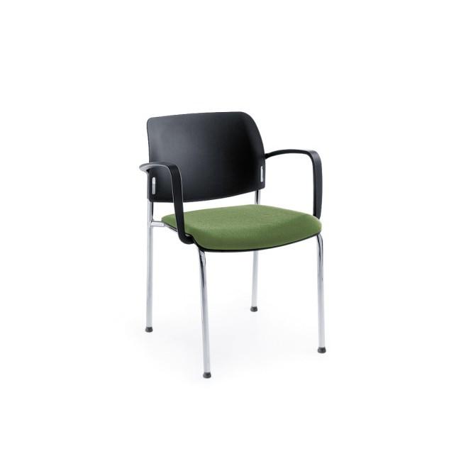 Krzesło BIT 560H 2P chrom/satyna