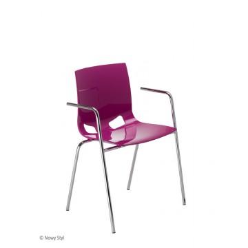 Krzesło FONDO PP arm chrom