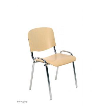 Krzesło ISO wood chrom