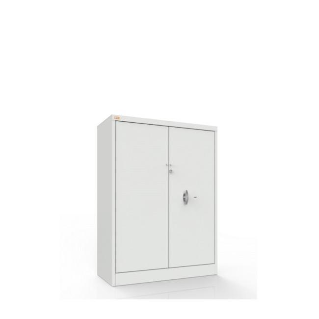Wzmocniona szafa biurowa 2-półkowa, 2-drzwiowa przeznaczona jest do przechowywania dokumentów niejawnych RODO 2018
